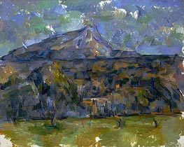 Mont Sainte-Victoire Seen from Les Lauves, c.1902/06 by Cezanne | Painting Reproduction