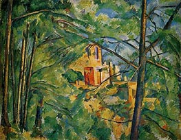 The Chateau Noir, c.1904 by Cezanne | Painting Reproduction