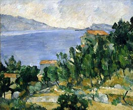 View of Mount Mareseilleveyre and the Isle of Maire, c.1878/82 by Cezanne | Painting Reproduction