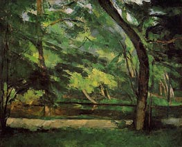 The Etang des Soeurs at Osny, c.1875 by Cezanne | Painting Reproduction