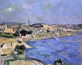 Saint-Henri and the Bay of l'Estaque, c.1877/79 by Cezanne | Painting Reproduction