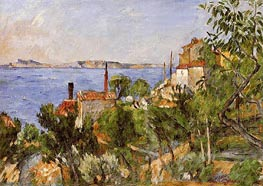 Landscape, Study after Nature, 1876 by Cezanne | Painting Reproduction