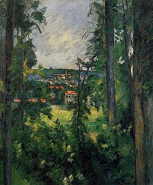 Auvers-sur-Oise, View from Nearby, c.1876/77 by Cezanne | Painting Reproduction