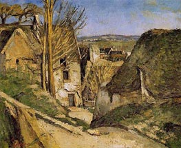 House of the Hanged Man, Auvers-sur-Oise, 1873 by Cezanne | Painting Reproduction