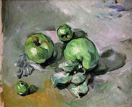 Green Apples, c.1872/73 by Cezanne | Painting Reproduction