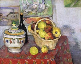 Still Life with Soup Tureen, c.1877 by Cezanne | Painting Reproduction