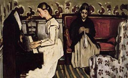 Girl at the Piano (The Overture to Tannhauser), c.1868 by Cezanne | Painting Reproduction