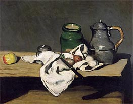 Still Life with a Kettle, c.1869 by Cezanne | Painting Reproduction