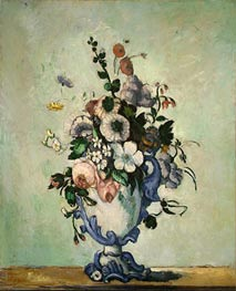 Flowers in a Rococo Vase, c.1876 by Cezanne | Painting Reproduction