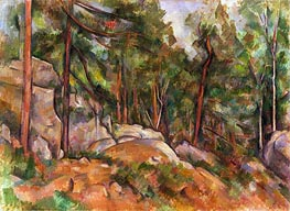 Forest Interior, c.1898/99 by Cezanne | Painting Reproduction