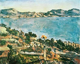 The Sea at l'Estaque, c.1882/85 by Cezanne | Painting Reproduction