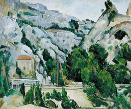 Viaduct at l'Estaque, 1882 by Cezanne | Painting Reproduction