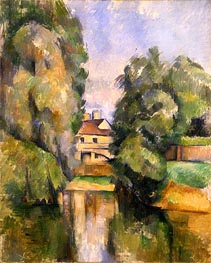 Country House by the Water, c.1888 by Cezanne | Painting Reproduction