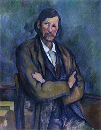 Man with Folded Arms, c.1899 by Cezanne | Painting Reproduction