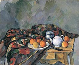 Still Life with a Teapot, undated by Cezanne | Painting Reproduction