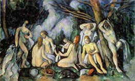 Nudes in Landscape, c.1900/05 by Cezanne | Painting Reproduction