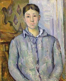 Madame Cezanne in Blue, c.1888/90 by Cezanne | Painting Reproduction