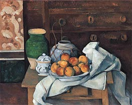 Still Life with a Chest of Drawers, c.1883/87 by Cezanne | Painting Reproduction