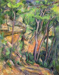 In the Park of Chateau Noir, c.1896/99 by Cezanne | Painting Reproduction