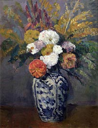 Dahlias, c.1873 by Cezanne | Painting Reproduction