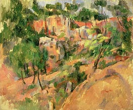 Corner of Quarry, c.1900/02 by Cezanne | Painting Reproduction