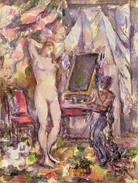 Interior with Nude, 1880 by Cezanne | Painting Reproduction