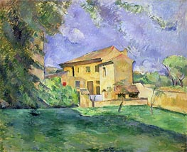 Farm at Jas de Bouffan, undated by Cezanne | Painting Reproduction