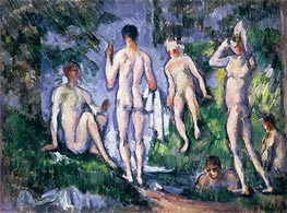Men Bathing, c.1892/94 by Cezanne | Painting Reproduction