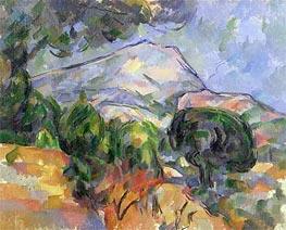 Montagne Sainte-Victoire au-dessus de la route du Tholonet, c.1904 by Cezanne | Painting Reproduction