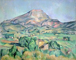 Montagne Sainte-Victoire, undated by Cezanne | Painting Reproduction
