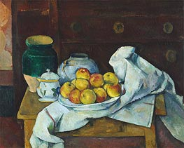 Still Life with Commode, c.1887/88 by Cezanne | Painting Reproduction
