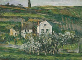 Small Houses near Pontoise, c.1873/74 by Cezanne | Painting Reproduction