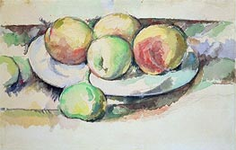 Still Life of Peaches and Figs, undated by Cezanne | Painting Reproduction