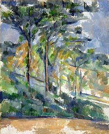 Landscape, c.1900 by Cezanne | Painting Reproduction