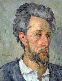 Portrait of Victor Chocquet, c.1876/77 by Cezanne | Painting Reproduction