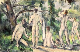 Study of Bathers, c.1895/98 by Cezanne | Painting Reproduction
