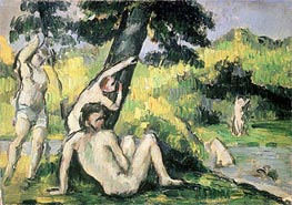 The Bathing Place, undated by Cezanne | Painting Reproduction