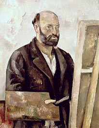 Self Portrait with a Palette, c.1885/87 by Cezanne | Painting Reproduction