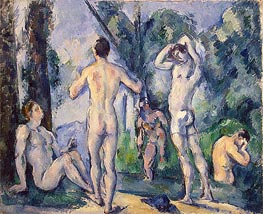 Bathers, c.1890/91 by Cezanne | Painting Reproduction