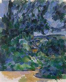 Blue Lanscape, c.1904/06 by Cezanne | Painting Reproduction