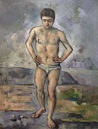 The Bather, c.1885 by Cezanne | Painting Reproduction