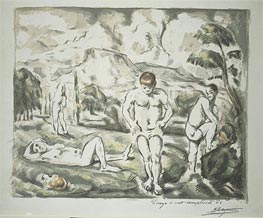 The Bathers, c.1896/98 by Cezanne | Painting Reproduction