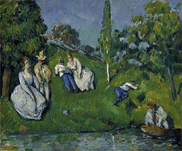 The Pond, c.1877/79 by Cezanne | Painting Reproduction