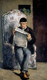 The Artist's Father, 1866 by Cezanne | Painting Reproduction