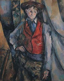 Boy in a Red Waistcoat, c.1888/90 by Cezanne | Painting Reproduction