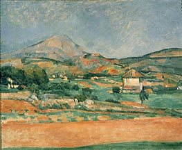 View over Mont St. Victoire, c.1882/85 by Cezanne | Painting Reproduction