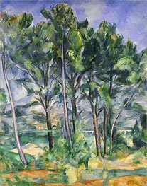 The Aqueduct (Montagne Sainte-Victoire seen through Trees), c.1885/87 by Cezanne | Painting Reproduction