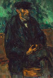 The Gardener Vallier, c.1905 by Cezanne | Painting Reproduction