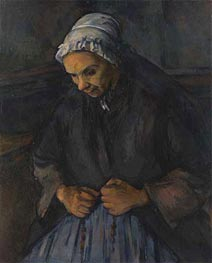 An Old Woman with a Rosary, c.1895/96 by Cezanne | Painting Reproduction