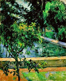 The Pool at Jas de Bouffan | Cezanne | Painting Reproduction